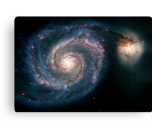 Illuminati Eye: Whirlpool Galaxy V2 | New Illuminati Canvas Print