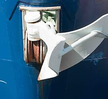 White Anchor On Blue Bow. by Raymond J. Marcon