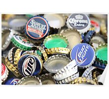 Bottle cap collection Poster