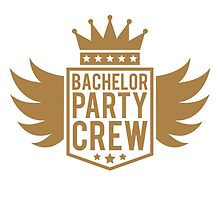 Bachelor crew wings Crown banner by Style-O-Mat