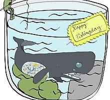 a whale in aquarium by ywanka