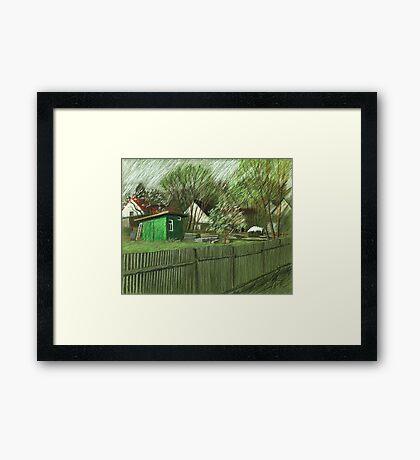 grüner Käfer Framed Print