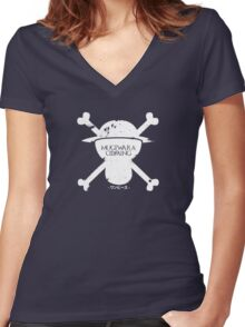 Mugiwara Is Coming Women's Fitted V-Neck T-Shirt