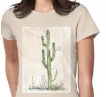 Cactus - Cereus jamacaru - Botanical - (Een-nag-blom) Womens Fitted T-Shirt