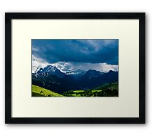 Green Storm Framed Print