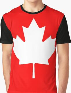 Canadian Flag - National Flag of Canada - Maple Leaf T-Shirt Sticker Graphic T-Shirt