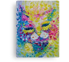 Pink Lemon Cat Painting Original Fine Art by Ekaterina Chernova Canvas Print