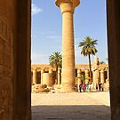 Interior of Karnak Temple, Luxor by Ludwig Wagner