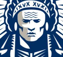 Native American Chief Shield Retro Sticker
