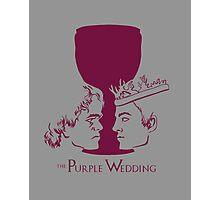 Purple Wedding Photographic Print