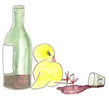 Drunken Easter Chick by microcosma