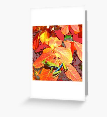 Leaf Frog Greeting Card