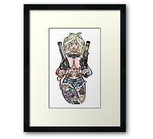 Girl with Guns Framed Print