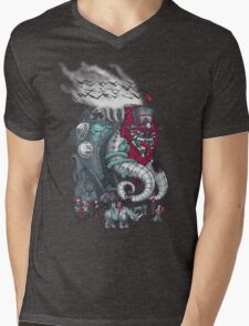 Dark Circusbot Mens V-Neck T-Shirt