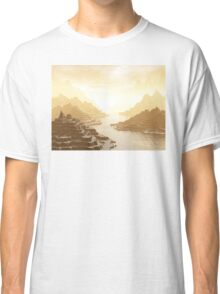 Misted Mountain River Passage Classic T-Shirt