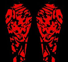 Carnage print leggings by MacTotsCustoms
