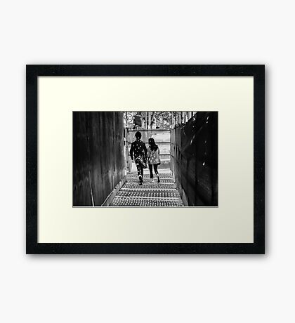 Spotted Striders Framed Print