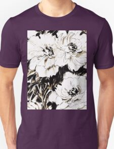 Peonies in ink Unisex T-Shirt