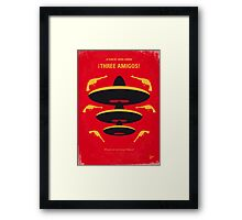 No285 My Three Amigos minimal movie poster Framed Print
