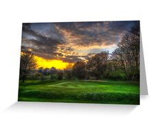 Masters Sunset Greeting Card