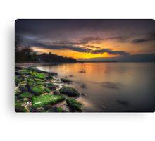 Players Beach Sunset Canvas Print