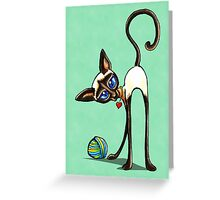 Simaese Cat | Yarn Thief Greeting Card