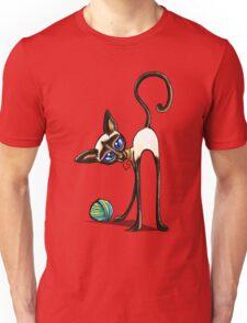 Simaese Cat | Yarn Thief Unisex T-Shirt