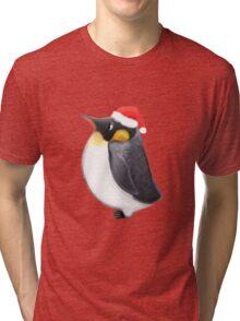 Louie the Christmas Penguin Tri-blend T-Shirt