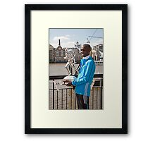The Elite winner of the London Marathon 2014  Wilson Kipsang both from Kenya Framed Print