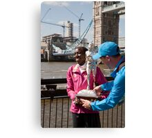 The Elite winner of the London Marathon 2014 Edna Kiplagat Kenya Canvas Print