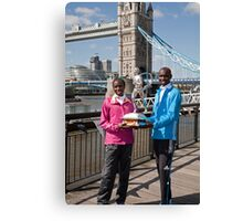 The Elite winners of the London Marathon 2014 Edna Kiplagat and Wilson Kipsang both from Kenya Canvas Print