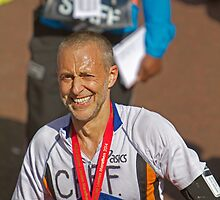 Michel Roux Jr with his London Marathon medal by Keith Larby