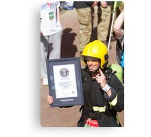 The fastest firewoman in the London Marathon Canvas Print