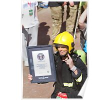 The fastest firewoman in the London Marathon Poster