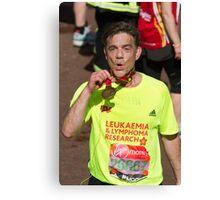John Michie with his London Marathon medal Canvas Print