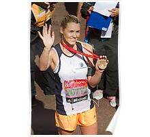 Amy Guy with her London Marathon medal Poster