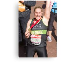 Ann Marie Robinson with her London Marathon medal Canvas Print