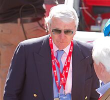 Sir John Major at the finish line of the London Marathon by Keith Larby