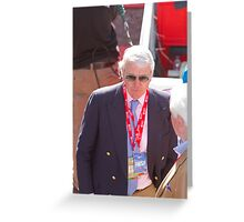 Sir John Major at the finish line of the London Marathon Greeting Card