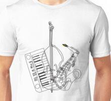 Saxophone, Double Bass, Keyboard  Unisex T-Shirt