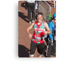 Matt Bell with his london Marathon medal Canvas Print