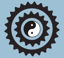 Bike Cycling Bicycle Sprocket Yin Yang by SportsT-Shirts
