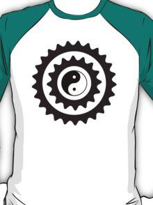 Bike Cycling Bicycle Sprocket Yin Yang T-Shirt