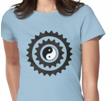 Bike Cycling Bicycle Sprocket Yin Yang Womens Fitted T-Shirt