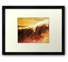 Wavey Breaky Framed Print