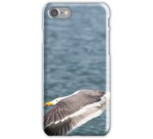 Seagull flying over the ocean iPhone Case/Skin