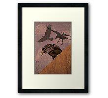 Crow invasion 2 Framed Print