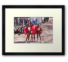 The Elite female winners of the London Marathon 2014  Framed Print