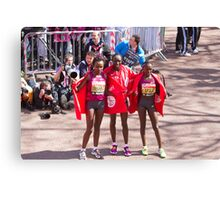 The Elite female winners of the London Marathon 2014  Canvas Print