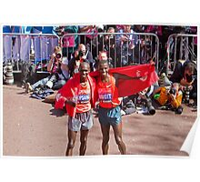 Kipsang & Biwott after winning the London Marathon Poster